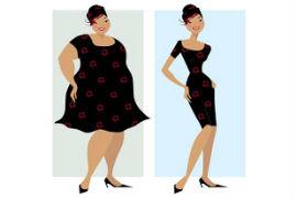дебела и кльощава